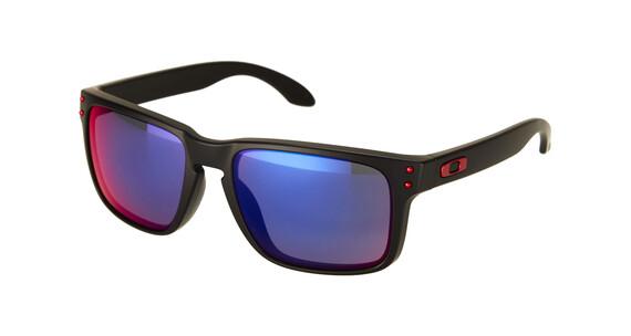 Oakley Holbrook matte black/positive red iridium